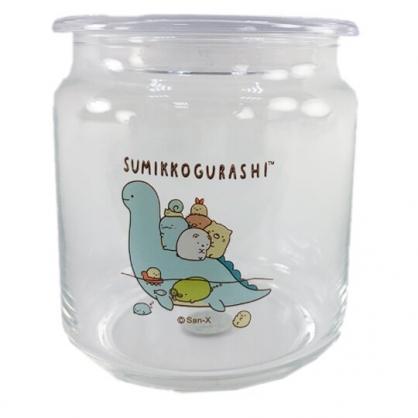 小禮堂 角落生物 透明密封玻璃罐 食物分裝罐 保鮮罐 餅乾罐 500ml (恐龍)