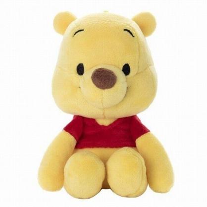 小禮堂 迪士尼 小熊維尼 沙包玩偶 絨毛玩偶 沙包娃娃 (S 紅衣坐姿)