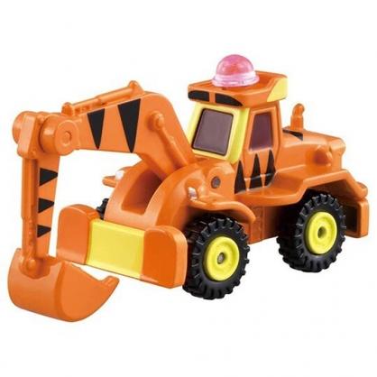 小禮堂 TOMICA多美小汽車 小熊維尼 跳跳虎 造型挖土機 玩具車 模型車 (DM09 橘黃)