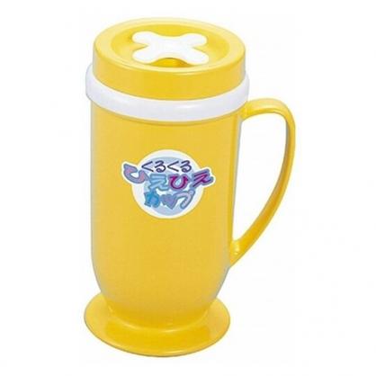 小禮堂 日製 單耳塑膠製冰杯 DIY冰沙杯 果汁杯 奶昔杯 170ml (藍黃盒裝)