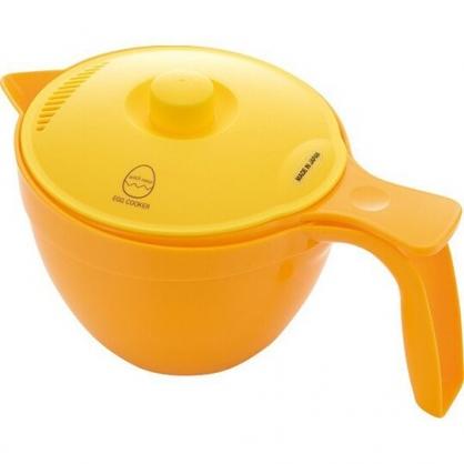 小禮堂 日製 單耳塑膠蛋調理器 蛋白分離器 蒸煮盒 煮蛋器 650ml (棕盒裝)