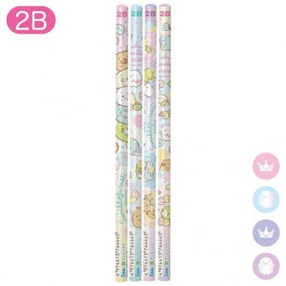 小禮堂 角落生物 日製 圓桿鉛筆組 2B鉛筆 木鉛筆 (粉紫 遊樂園)