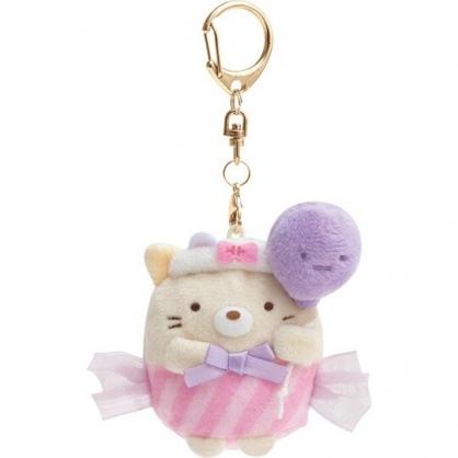 小禮堂 角落生物 貓咪 沙包絨毛吊飾 玩偶吊飾 玩偶鑰匙圈 (粉紫黃 汽球)