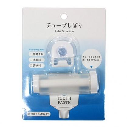 小禮堂 ECHO 吸盤式牙膏擠壓器 擠牙膏器 洗面乳擠壓器 牙膏架 (白)
