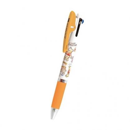 小禮堂 迪士尼 小熊維尼 日製 多色筆 原子筆 三色筆 0.5mm Jetstream (黃白 汽球)