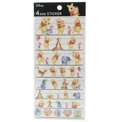 小禮堂 迪士尼 小熊維尼 日製 造型透明貼紙 手帳貼紙 裝飾貼紙 (黑黃 抱抱)
