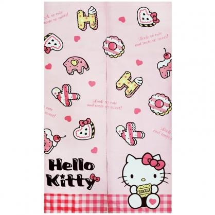 小禮堂 Hello Kitty 棉麻長門簾 窗簾 遮光簾 85x145cm (粉 餅乾)