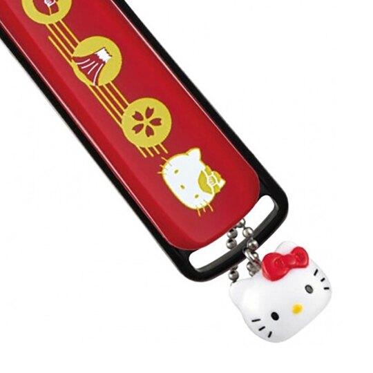小禮堂 Hello Kitty 日製 指甲剪 指甲銼刀 附吊飾 (S 紅黑 櫻花)