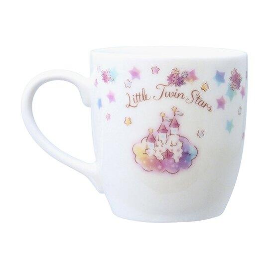 小禮堂 雙子星 陶瓷馬克杯 咖啡杯 陶瓷杯 金正陶器 (粉白 45週年)