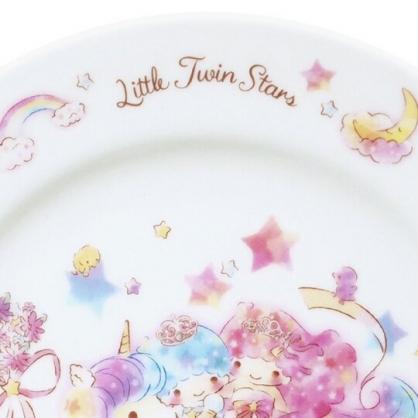 小禮堂 雙子星 日製 陶瓷圓盤 沙拉盤 點心盤 陶瓷盤 金正陶器 (粉白 45週年)