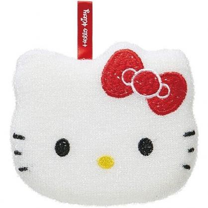 小禮堂 Hello Kitty 造型清潔海綿 菜瓜布 鍋刷 洗碗刷 (紅白 大臉)