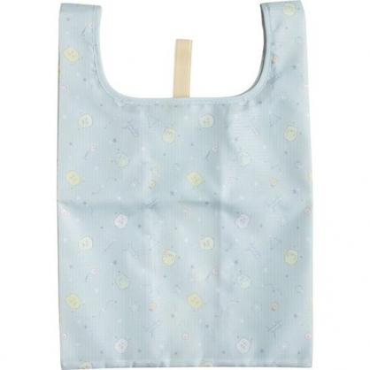 小禮堂 角落生物 折疊尼龍環保便當袋 環保購物袋 餐袋 (淺藍 星星滿版)