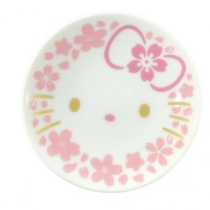 小禮堂 Hello Kitty 日製 迷你陶瓷圓盤 醬料盤 小菜盤 小碟 YAMAKA陶瓷 (粉金 櫻花臉)