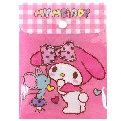 小禮堂 美樂蒂 B6直式塑膠扣式資料袋 文具袋 萬用資料袋 (粉 朋友)