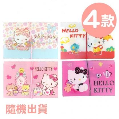 小禮堂 Hello Kitty 12層迷你風琴夾 票據夾 資料夾 分類文件夾 文件袋 (4款隨機)