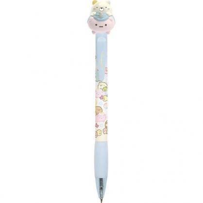小禮堂 角落生物 貓咪 日製 造型原子筆 造型筆 黑筆 自動筆 0.5mm (藍粉 玩偶車)