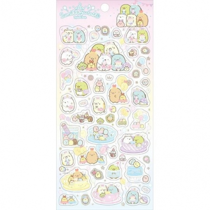 小禮堂 角落生物 日製 造型透明貼紙 手帳貼紙 裝飾貼紙 (粉 遊樂園)