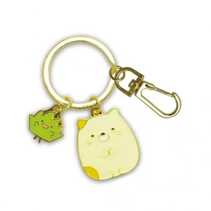 小禮堂 角落生物 貓咪 造型金屬鑰匙圈 鐵鑰匙圈 金屬吊飾 (金黃 坐姿)