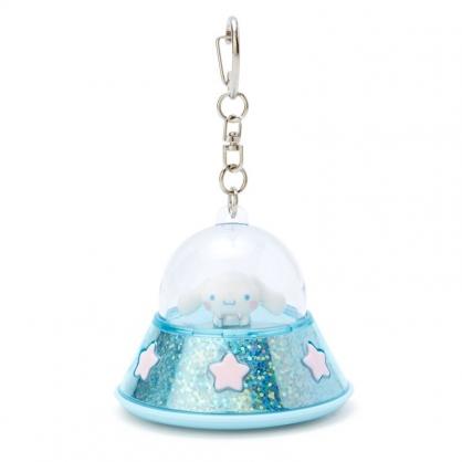 小禮堂 大耳狗 飛碟造型LED鑰匙圈 LED掛飾 發光吊飾 (藍白)