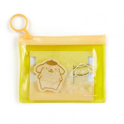 小禮堂 布丁狗 造型壓克力彈力髮圈 附收納包 造型髮束 塑膠髮圈 (金黃)