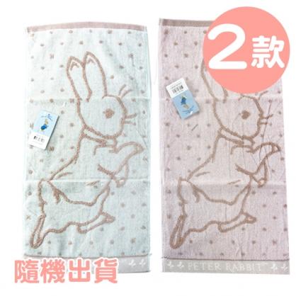 小禮堂 彼得兔 精繡純棉割絨兒童毛巾 長毛巾 童巾 27x52cm (S 2款隨機)