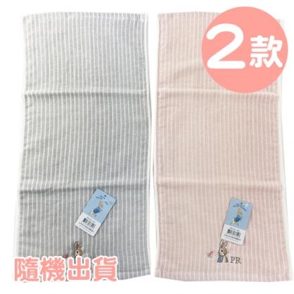 小禮堂 彼得兔 精繡純棉兒童毛巾 長毛巾 童巾 25x50cm  (S 2款隨機)