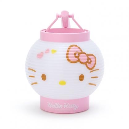 小禮堂 Hello Kitty LED塑膠圓燈籠 提燈 圓形燈籠 仿紙造型燈籠 (粉白 夏日祭典)