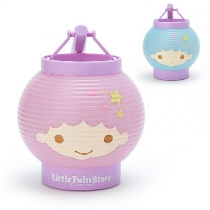 小禮堂 雙子星 LED塑膠圓燈籠 提燈 圓形燈籠 仿紙造型燈籠 (粉藍 夏日祭典)