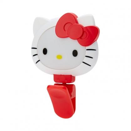 小禮堂 Hello Kitty 造型自拍補光燈夾 自拍燈 自拍神器 360度旋轉 (紅白 大臉)