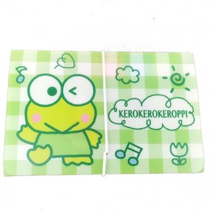 小禮堂 大眼蛙 12層迷你風琴夾 票據夾 資料夾 分類文件夾 文件袋 (綠 格紋)
