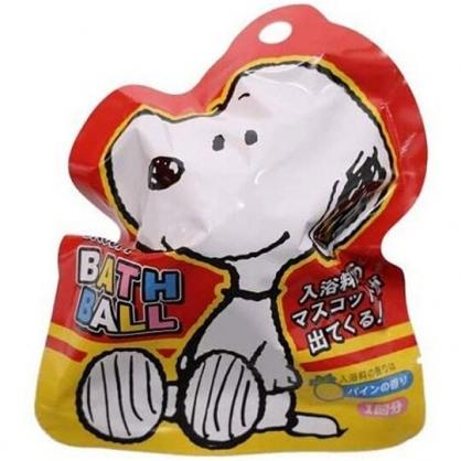 小禮堂 史努比 入浴球 入浴劑 泡澡球 沐浴球 (6款隨機 紅 坐姿)