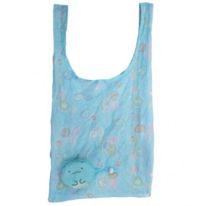 小禮堂 角落生物 恐龍 折疊尼龍環保購物袋 環保袋 側背袋 (藍 大臉)