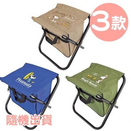小禮堂 史努比 方形折疊露營椅 儲物椅 野餐椅 折疊椅 小椅子 (3款隨機)