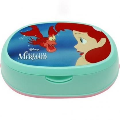 小禮堂 迪士尼 小美人魚 橢圓形濕紙巾盒 抽取式紙巾盒 面紙盒 口罩盒 (綠 側臉)