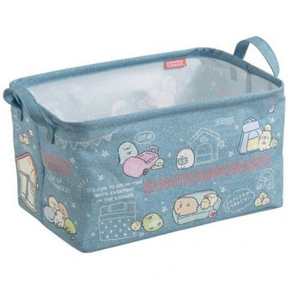 小禮堂 角落生物 方形雙耳帆布收納籃 洗衣籃 玩具籃 雜物籃 (藍 居家)