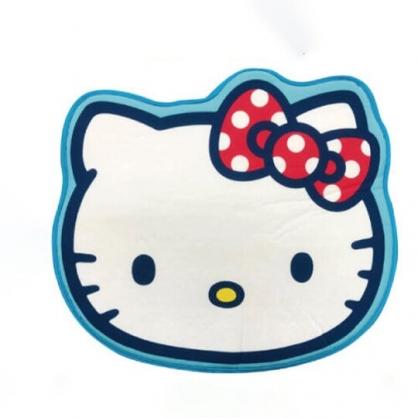 小禮堂 Hello Kitty 造型涼感腳踏墊 涼感地墊 踏墊 止滑墊 (藍白 大臉)
