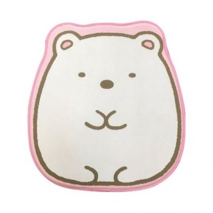 小禮堂 角落生物 北極熊 造型涼感腳踏墊 涼感地墊 踏墊 止滑墊 (粉白 坐姿)