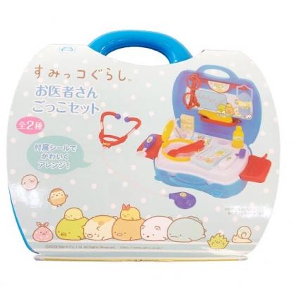 小禮堂 角落生物 醫生玩具組 附手提盒  聽診器玩具 扮家家酒 (藍)