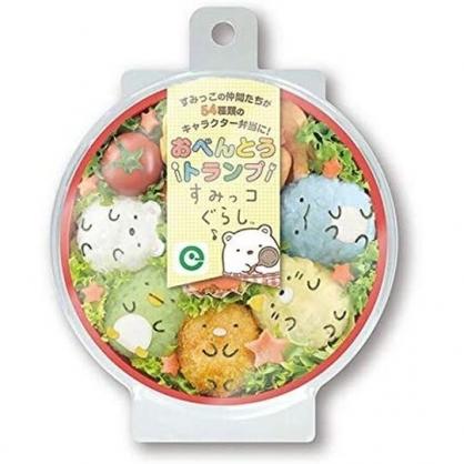 小禮堂 角落生物 日製 圓形撲克牌 造型撲克牌 便當食譜 桌遊 (黃 便當)