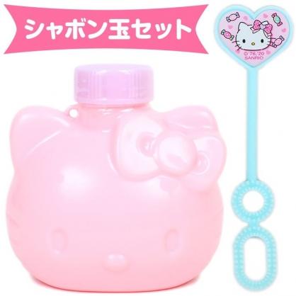 小禮堂 Hello Kitty 造型吹泡泡玩具 泡泡水 沙灘玩具 戶外玩具 (粉 大臉)