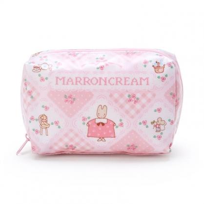 小禮堂 兔媽媽 方形防水化妝包 盥洗包 小物包 隨身收納包 (粉 滿版)