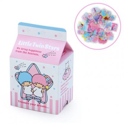 小禮堂 雙子星 牛奶盒造型果凍貼紙 透明貼紙 水晶貼紙 (粉藍 超市文具)