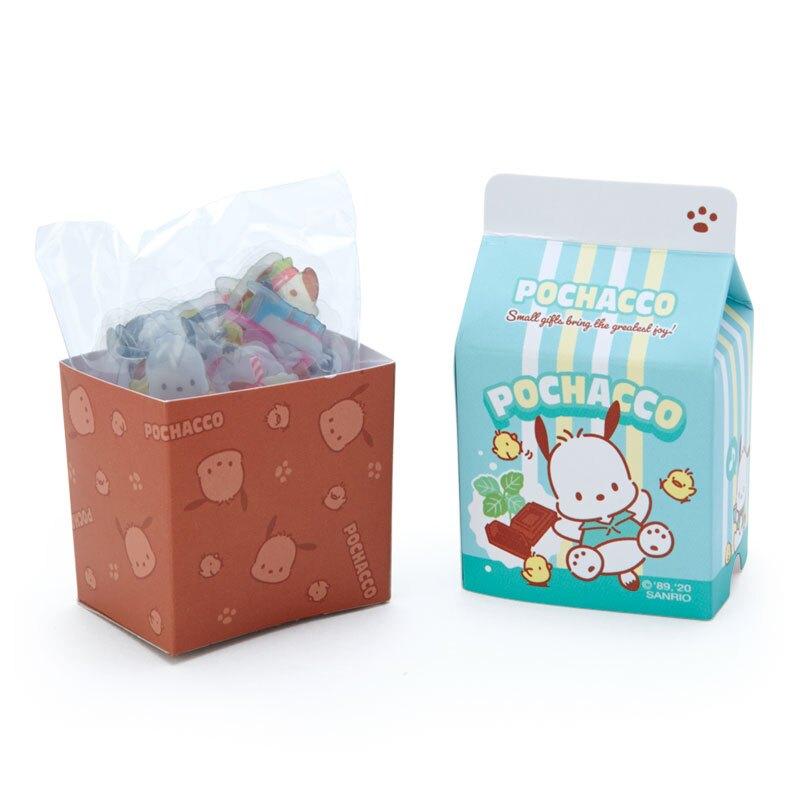 小禮堂 帕恰狗 牛奶盒造型果凍貼紙 透明貼紙 水晶貼紙 (綠棕 超市文具)