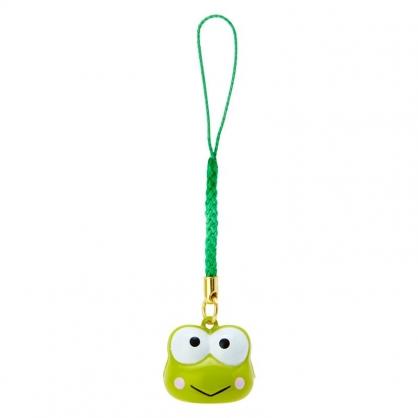 小禮堂 大眼蛙 造型鈴鐺吊飾 鈴鐺鑰匙圈 金屬吊飾 (綠白 大臉)
