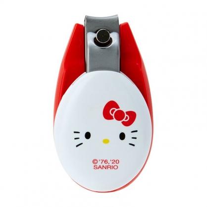 小禮堂 Hello Kitty 日製 蛋型指甲剪 指甲銼刀 磨甲刀 日本貝印 (紅白 大臉)