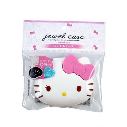 小禮堂 Hello Kitty 造型塑膠飾品盒 隨身收納盒 小物盒 銅板小物 (粉白 大臉)