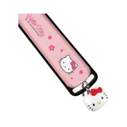 小禮堂 Hello Kitty 日製 指甲剪 指甲銼刀 附吊飾 (M 粉黑 櫻花)