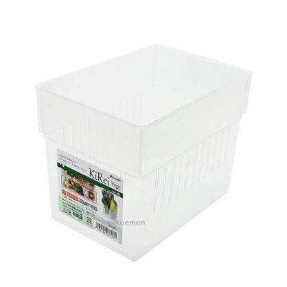 小禮堂 INOMATA 日製 冰箱分格收納盒 冰箱整理盒 蔬果收納盒 保鮮盒 (透明)