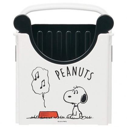 小禮堂 史努比 日製 方形吐司切片器 吐司切片架 吐司切模 麵包切割 (白 音符)