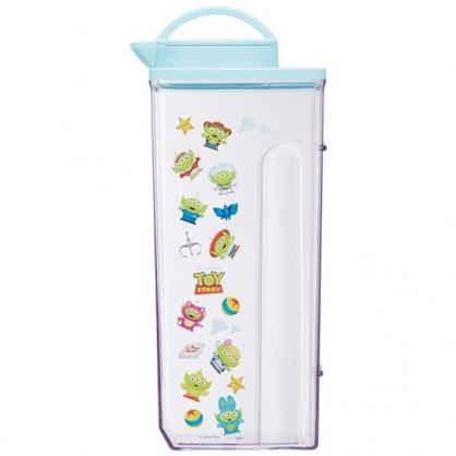 小禮堂 迪士尼 三眼怪 日製 無把塑膠冷水壺 透明水壺 飲料壺 茶壺 2.2L (藍蓋 變裝)